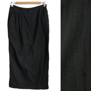 JC Poitras Black Shiny Straight Maxi Skirt, sz 12